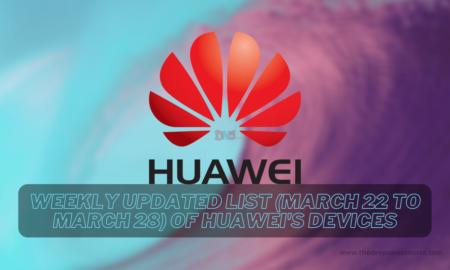 Huawei update list