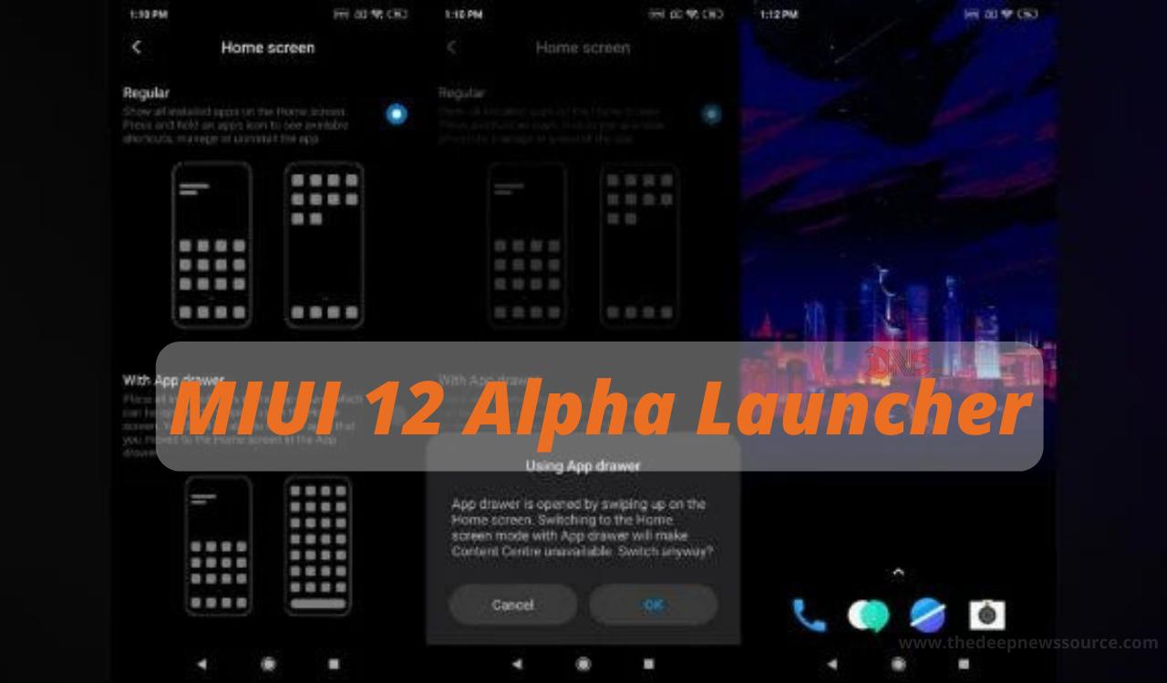 MIUI 12 Alpha Launcher