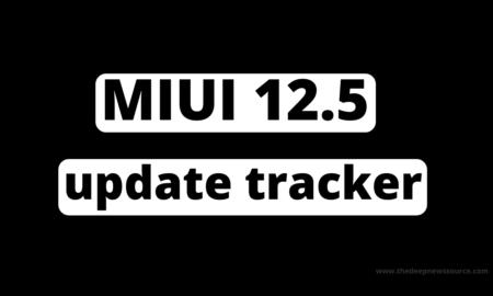 MIUI 12.5 update tracker