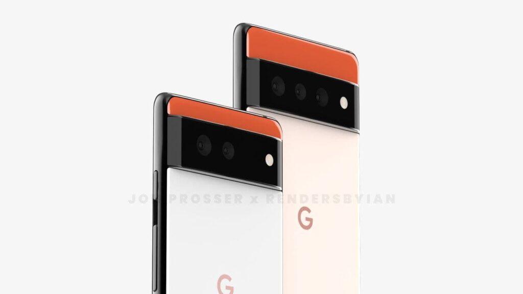 Google Pixel 6 series render